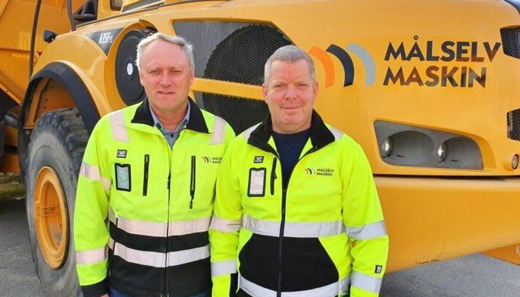 Fra venstre: Frank Eriksen, daglig leder Målselv Maskin & Transport AS og Roar Femsteinevik, prosjektleder.