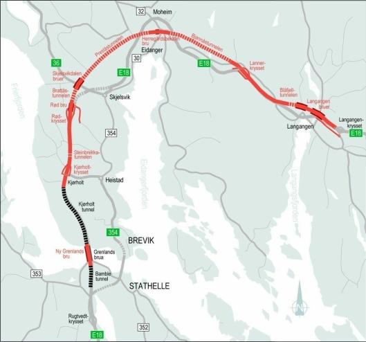Kartskisse over prosjekt-området.