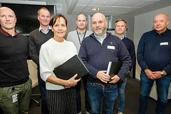 Flage Maskin signerte kontrakt på tunnelbygging