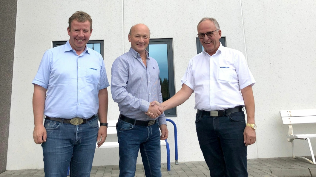 Fra venstre: Tommy Stangeland, Torleiv Halleland, Olav Stangeland.