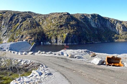 Dammen er snart ferdigstilt.