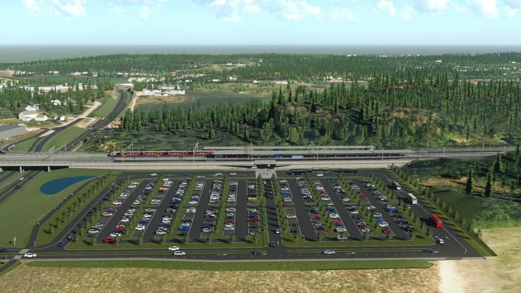 Joint venture Salini Impregilo S.p.A og Impresa Pizzarotti & C. S.p.A fra Italia skal blant annet bygge to bruer, tre tunneler på til sammen 5.3 km og ny Skoppum stasjon ca 1,3 km sørvest for dagens Skoppum stasjon for byggherre Bane Nor.