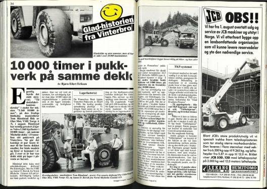 I PRESSEN: Anlegg&Transport har gjennom årene skrevet flere artikler om og fra Franzefoss. Her fra august 1991.