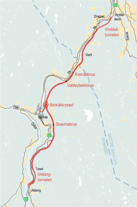 FCC Construcción S.A, sammen med rådgiverfirmaet Rambøll Norge AS, går videre til konkretiseringsfasen for byggingen av E6 mellom Ulsberg og Vindåsliene