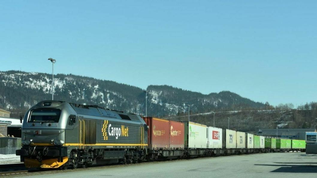 Jernbanen står nå for en veldig liten del av godsimporten til Norge.