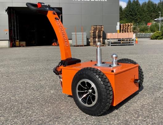 Den elektriske 500W-motoren på Attack Trailer blir drevet med strøm fra to 33Ah batterier.