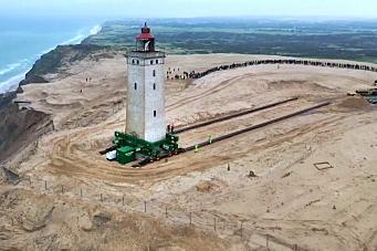Flyttet fyrtårn - reddet det fra å havne i havet
