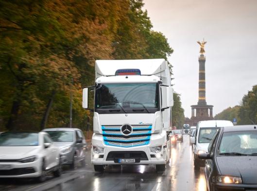 Mercedes-Benz eActros testes for tiden hos kunder i Tyskland og Sveits.
