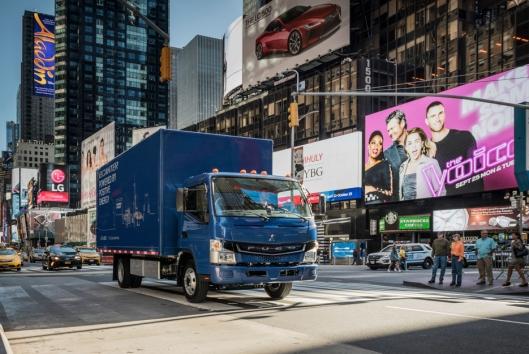 Elektrifiseringen av lastebilene har topp prioritet for Daimler. I 2017 ble FUSO eCanter lansert.