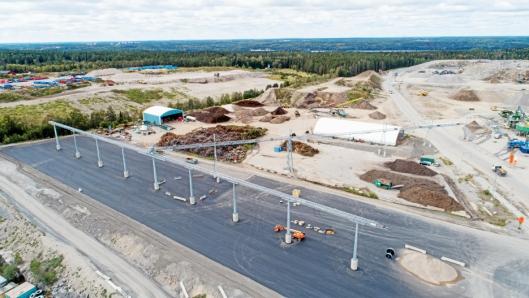 DIMENSJONER: Dette bildet viser dimensjonene på anlegget Nordic Bulk har levert i Sverige.