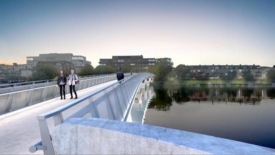 For Kristiansand kommune skal Consto bygge ny gang- og sykkelbru over Otra.