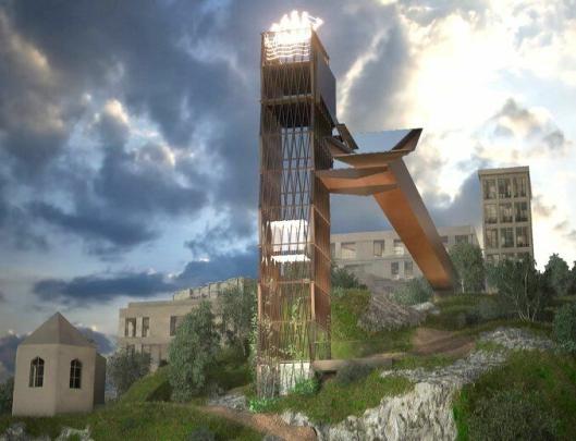 For Arendal kommune skal Consto bygge heis, tårn og bru til Fløybyen.