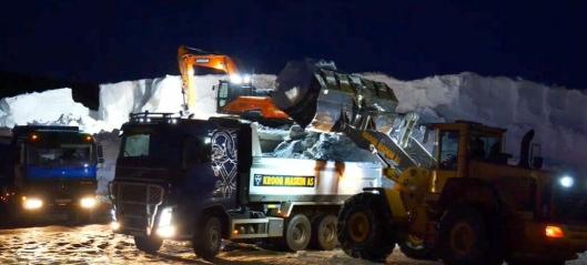 La ut 31.500 m³ snø i løyper - gjort på 3 dager