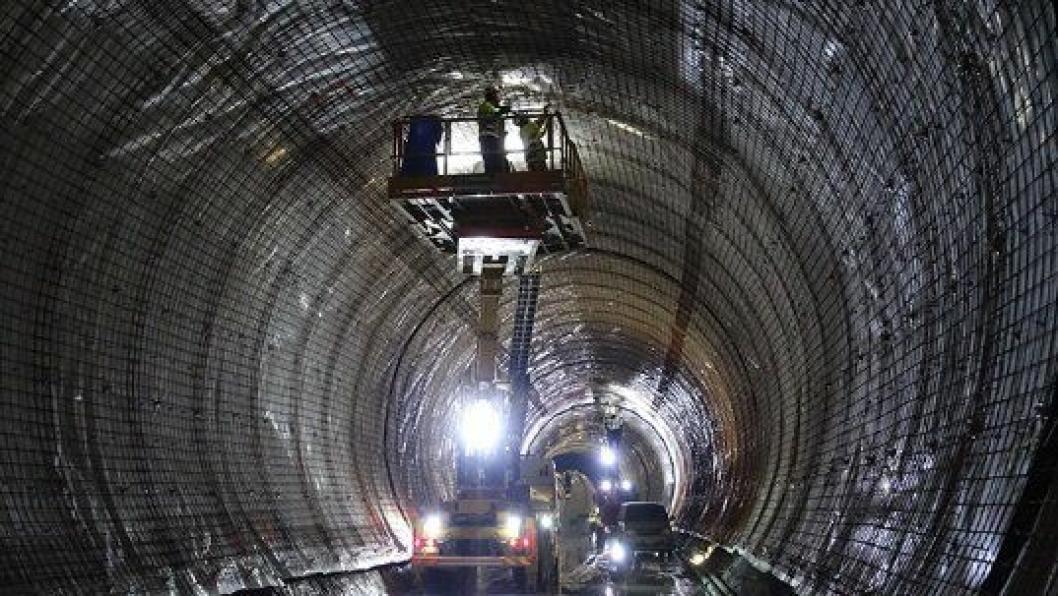 Armeringsarbeid i Nye Ulriken tunnel.