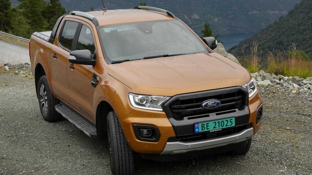 FACELIFT: Det mest iøynefallende etter at Ford gjorde en facelift av Ranger er en front som ikke er så markert.