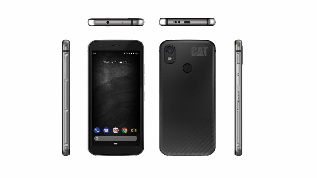 Nye Cat S52 smarttelefon, fra alle vinkler.