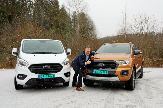 Per Gunnar Berg, adm. direktør i Ford Motor Norge er særdeles fornøyd med å ha tatt dobbeltseier.