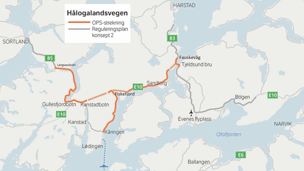OPS-kontrakten for E10/ rv. 85 Tjeldsund-Gullesfjordbotn-Langvassbukt (Hålogalandsvegen) er gigantisk.