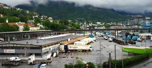 Slutt på lastebillevert gods på godsterminal