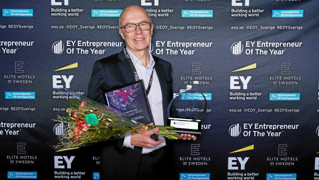 VANT: Anders Jonsson etter at han og Rototilt ble kåret til Nord-Sveriges fremste entreprenør.