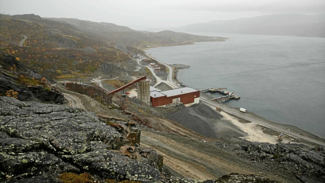 Kongen i statsråd godkjente fredag driftskonsesjonen til Nussir ASA for gruvedrift i Nussir og Gumppenjunni i Repparfjord, Kvalsund kommune i Finnmark. Bilde fra 2015.