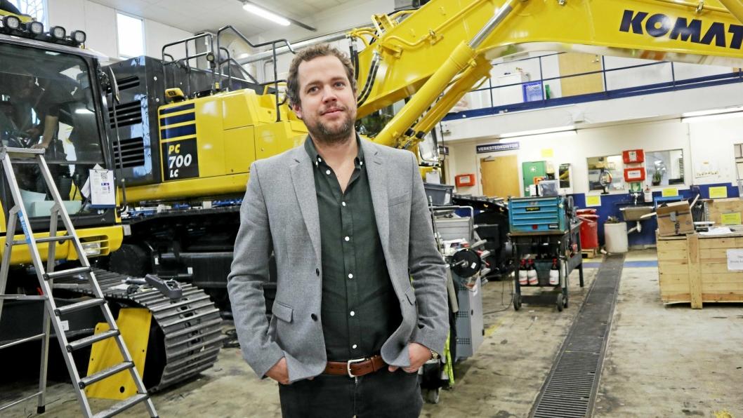 Andreas Corwin er ansatt som adm. direktør i Hesselberg Maskin AS i Norge og i Hesselberg Maskin AB (Sverige).Foto: Klaus Eriksen