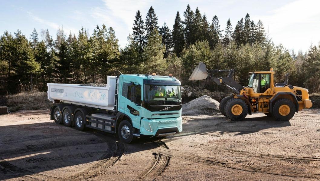 Elektrisk drevet tippbil testes av Volvo.