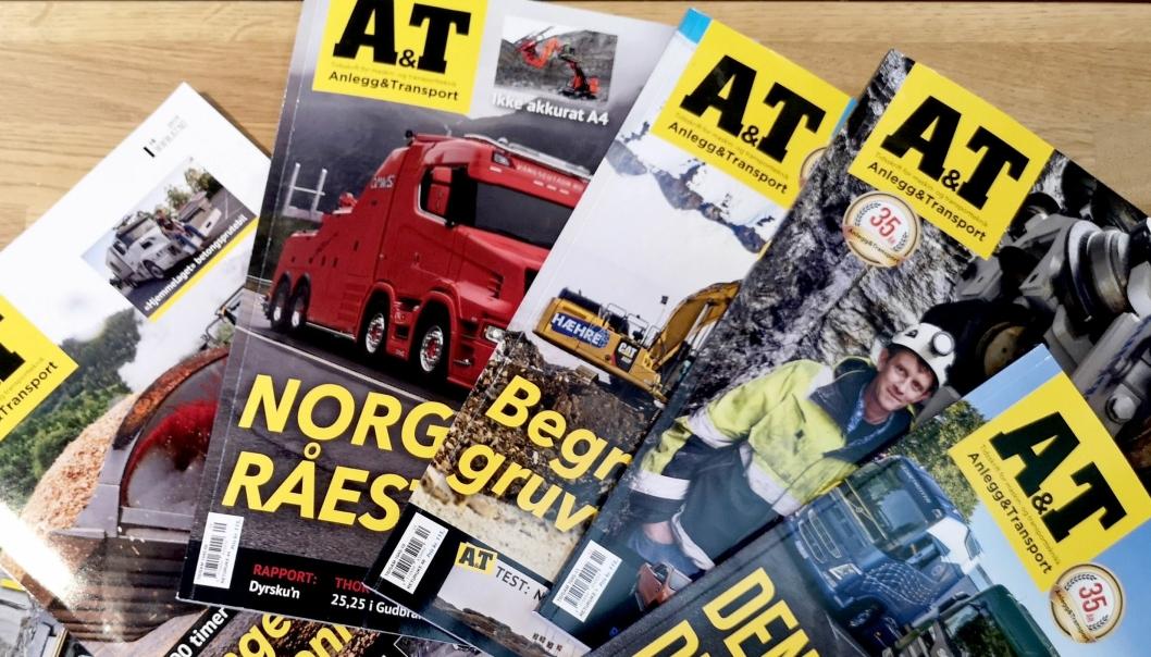 Premien er ett års abonnement av Anlegg&Transport (elleve blader).