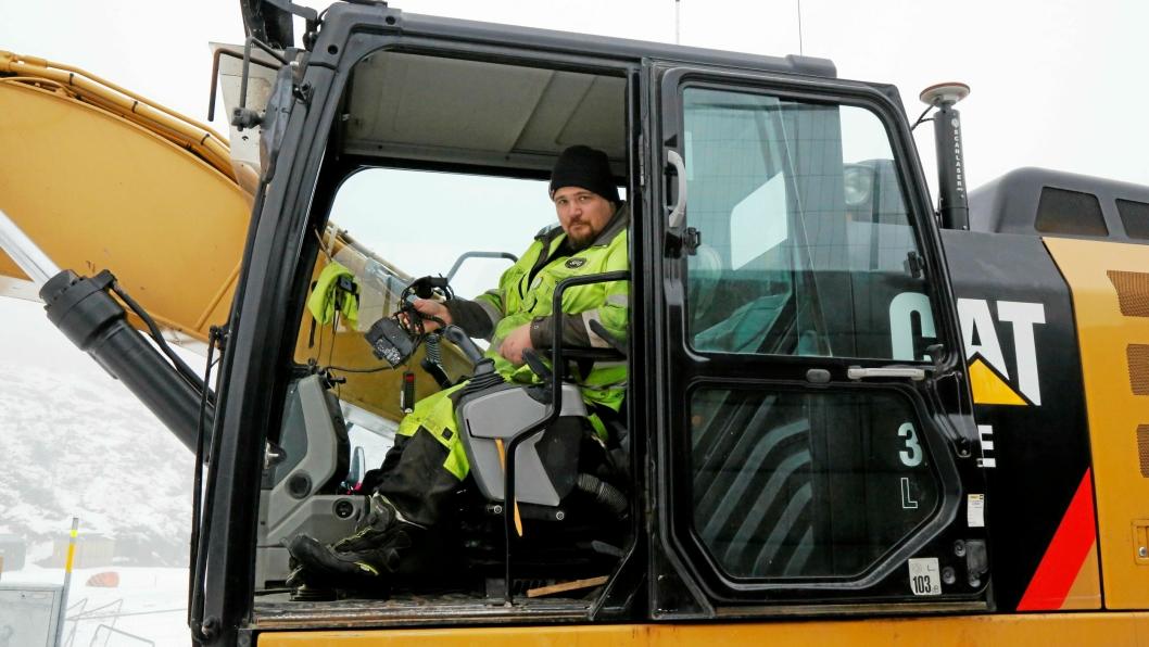 Maskinfører Stefan Blomberg mistet masse utstyr natt til tirsdag 17. desember.