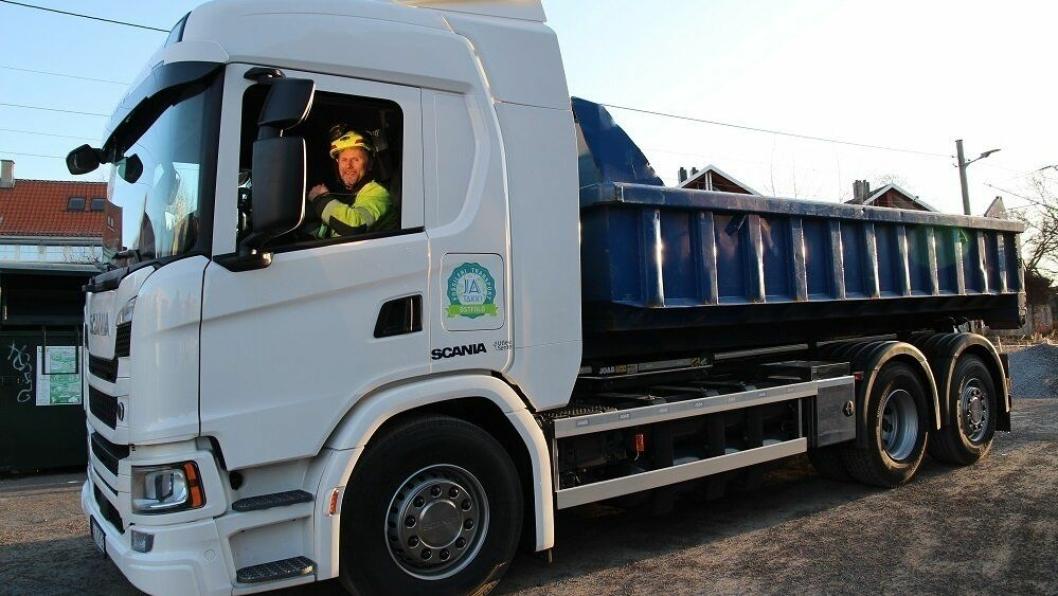 Anders Nordhagen er en av dem som har fått prøve lastebilen de to ukene den var hos NCC.