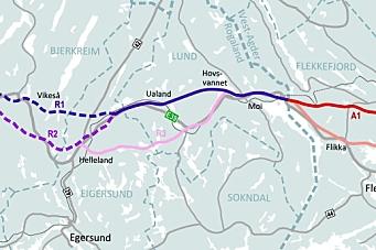 Korridorene A1 og R1 på E39 anbefales av Nye Veier