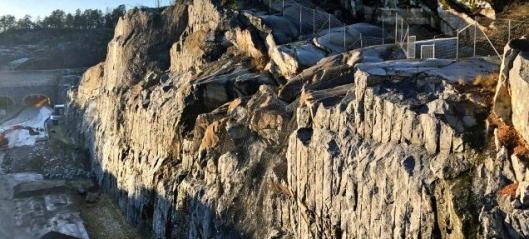 Skal fjerne mer berg ved E18 Bommestad
