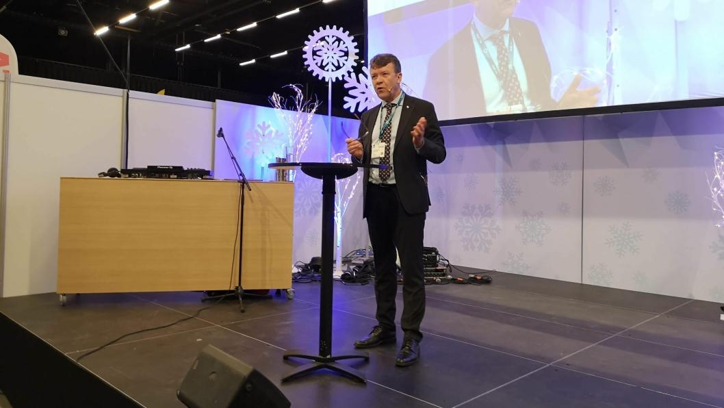 Styreleder i MEF, Arnstein Repstad, åpnet Arctic Entrepreneur 2020 tirsdag 21. januar i The Qube som ligger like vest for vestre rullebane på Gardermoen.
