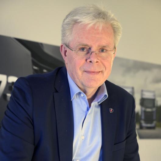 STOLT: Adm. direktør i Norsk Scania, Frode Neteland, er stolt av hele organisasjonen som leverte 2398 nye lastebiler i 2019. Det har vært et skikkelig lagarbeid.