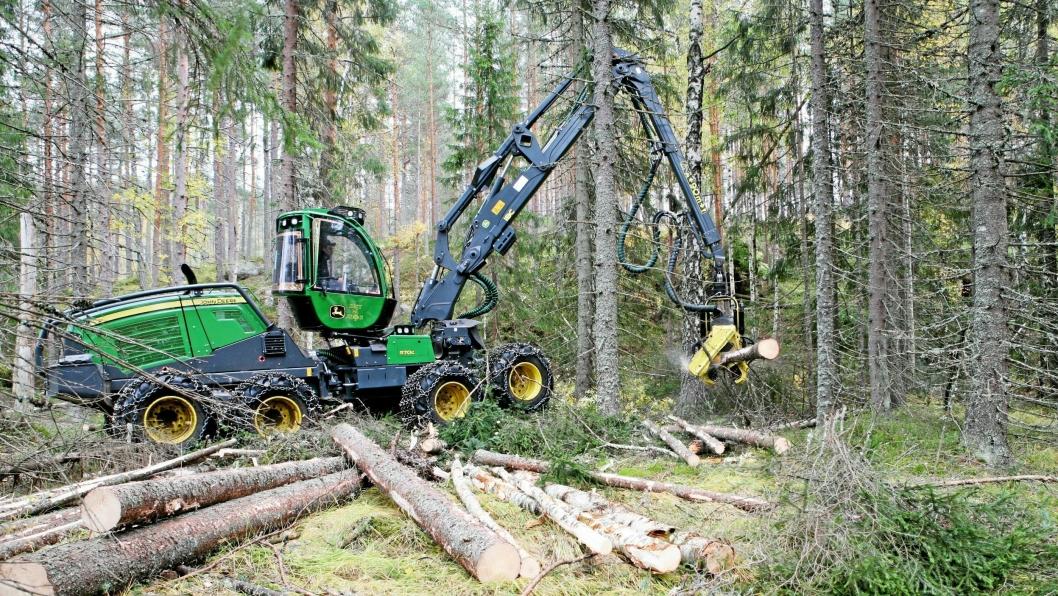 Illustrasjonsbilde: John Deere 1170G 8WD i arbeid for Entreprenørfirmaet Best på skog AS som har hovedkontor i Agder.