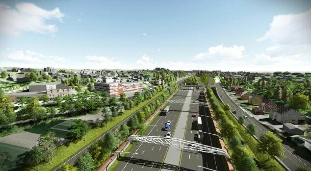Tre konsulenter vil ha oppdraget med å utarbeide reguleringsplan for E18 Ramstadsletta-Slependen i Bærum.