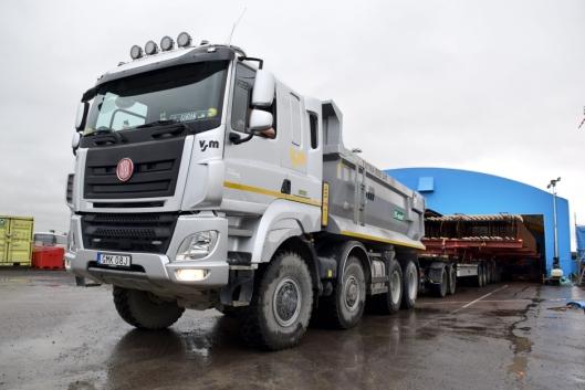 Det er en ganske omfattende transport-operasjon som tar hele dagen for transport-laget.