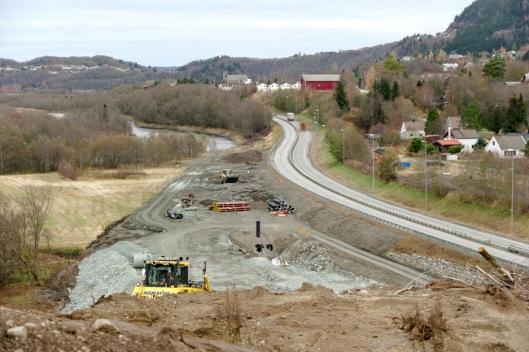 Kvål-Melhus er første prosjekt i anlegg i Trøndelag for Nye Veier AS. Her fra Hofstad.