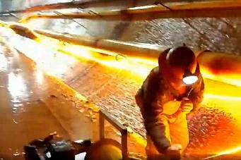 Se trykket fra sprengning i tunnel