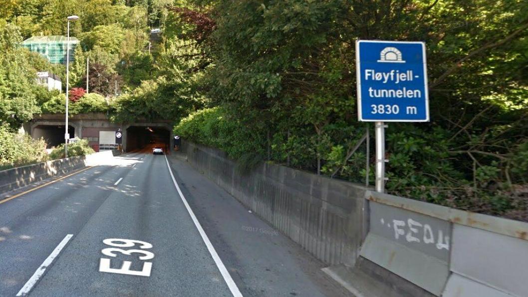 E39 Fløyfjelltunnelen.