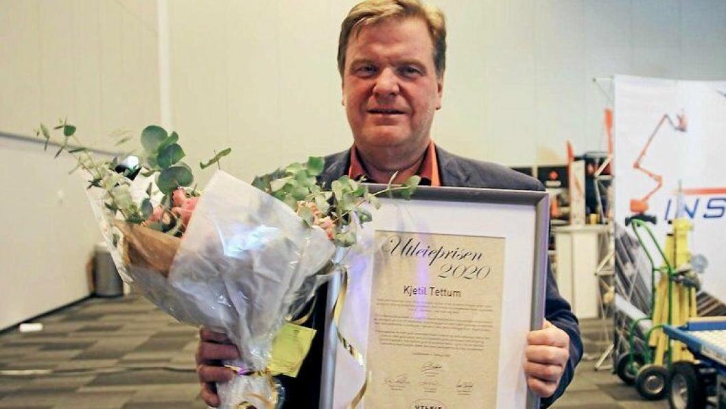 Kjetil Tettum i UCO mottok Utleieprisen 2020 Utleiekonferansen til  Norsk Utleieforening.