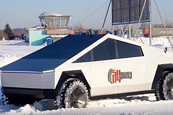 Russisk UAZ-basert Tesla Cybertruck