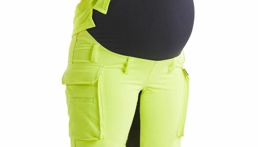 Anleggsbukse for gravide ble lansert av Blåkläder i Norge 12. februar 2020.