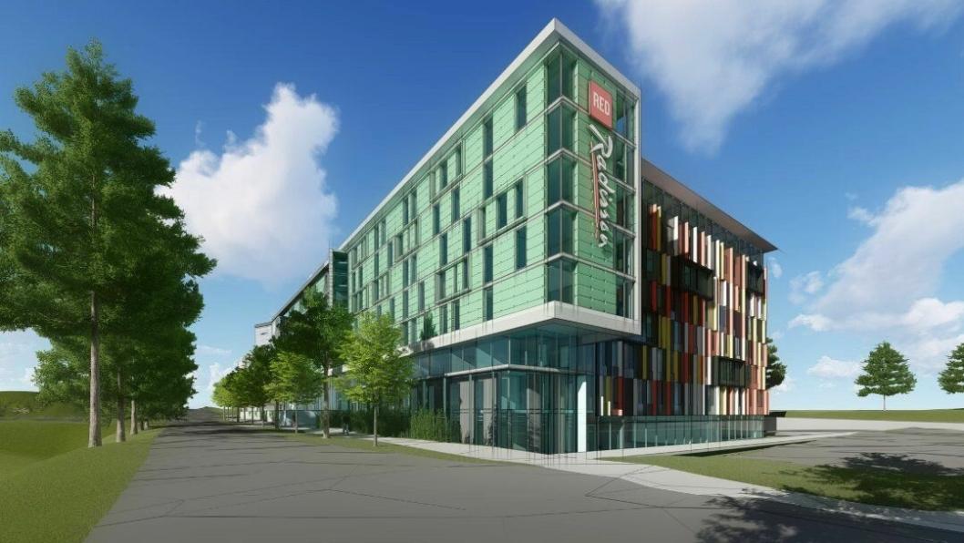 AF utføre utvidelse av Gardermoen Park Inn hotellet som de opprinnelig førte opp i 2009-2010.