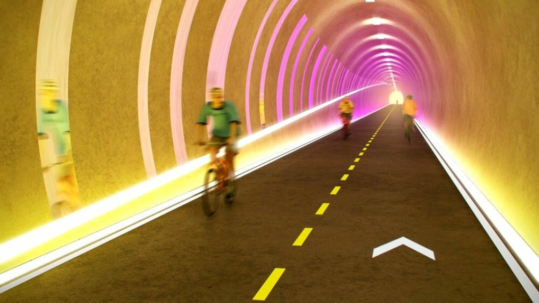Det skal bygges ny sykkeltunnel på 371 meter gjennom Auglendshøyden i Stavanger.