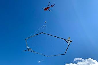 Geoscanner E18 Langangen-Grimstad med helikopter
