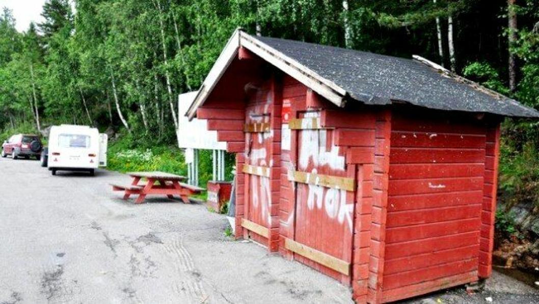 Gamletoalettet ved Strandlykkja ved Mjøsa.