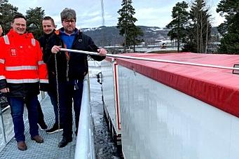 Gave: Snøfjerningsrampe til en kvart million kroner