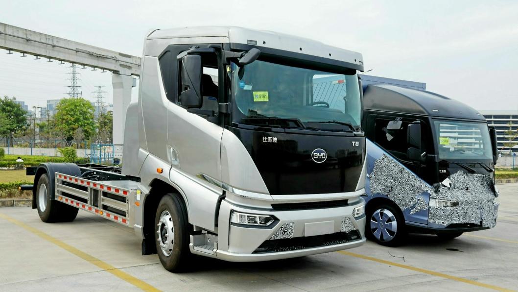 T9: 19-tonns lastebil vil bli vist under IAA i September. Dette er en kinaversjon, mens europaversjonen vil få et nytt og mer moderne uttrykk.