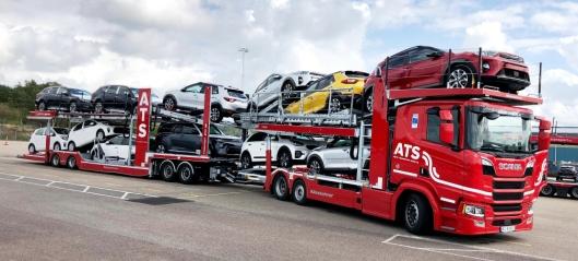 Effektiv biltransport med modulvogntog